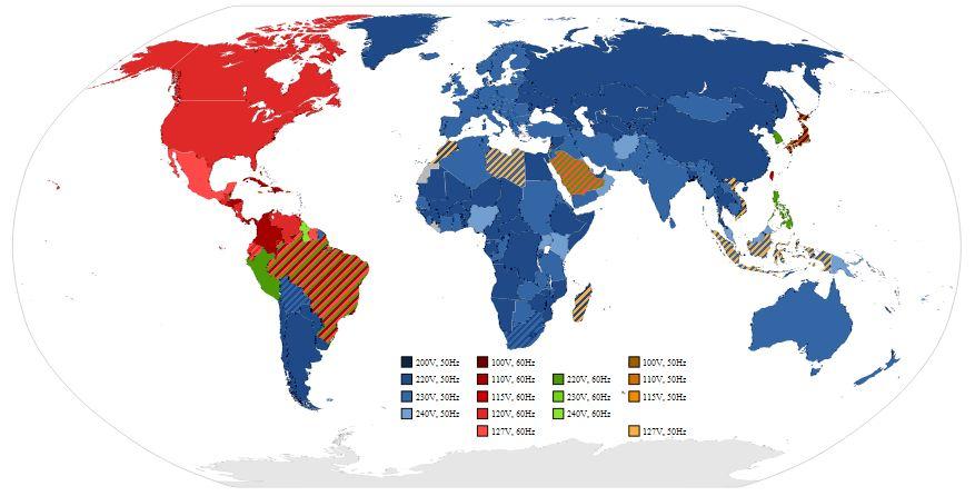 Frecuenciasdelmundo ¿Por qué se emplean 50 Hz en Europa y 60 Hz en Norteamérica?