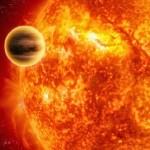 lustración de un planeta que orbita muy cerca de su estrella